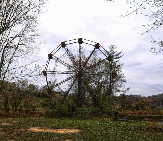Lake Shawnee Was Once A ... is listed (or ranked) 1 on the list This Cursed Amusement Park With A Bloody History Has Been Abandoned For Decades