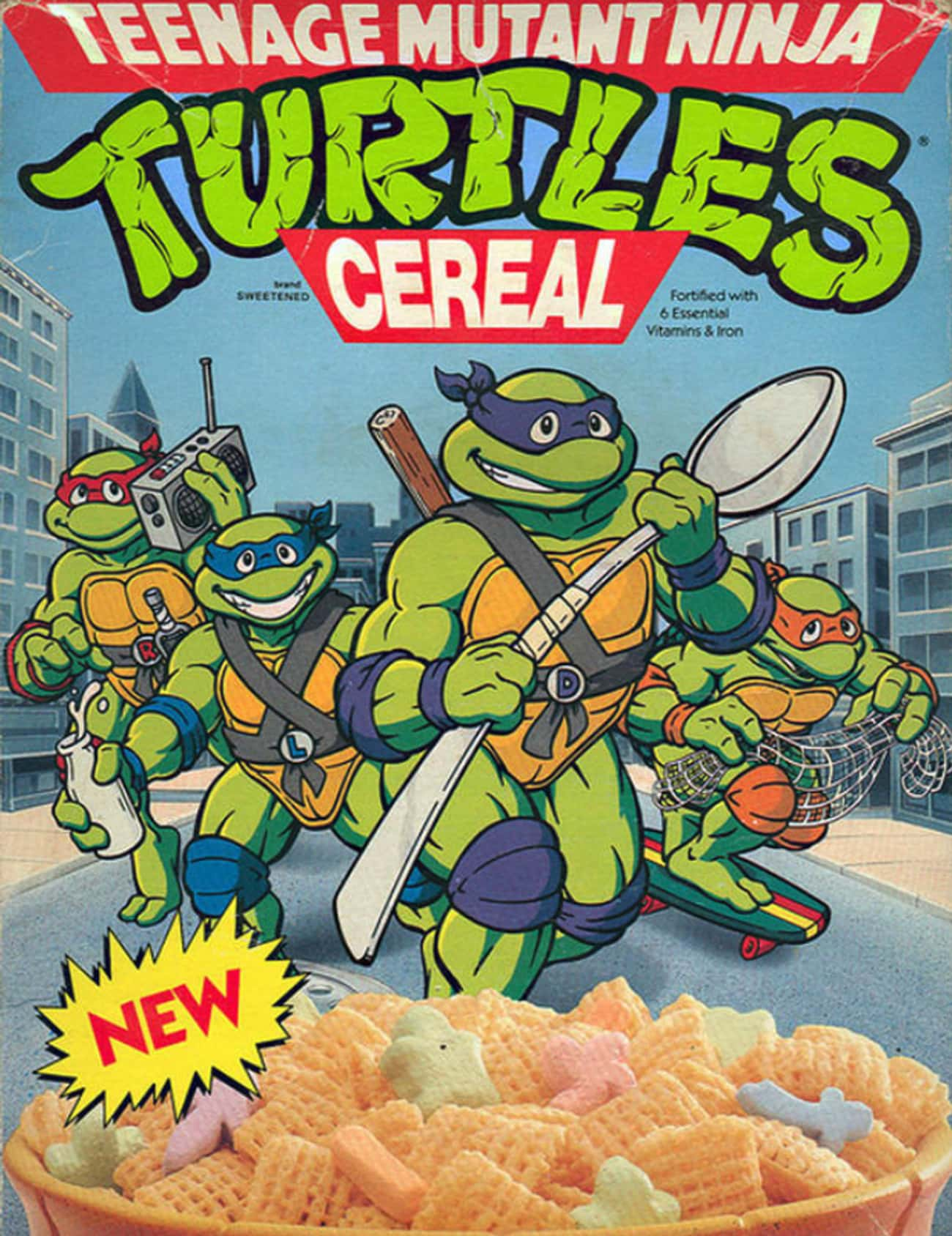 Teenage Mutant Ninja Turtles C is listed (or ranked) 4 on the list Discontinued '90s Cereals You Totally Forgot About