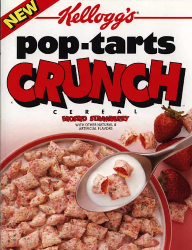 Pop-Tarts Crunch Cereal ... is listed (or ranked) 3 on the list Discontinued '90s Cereals You Totally Forgot About