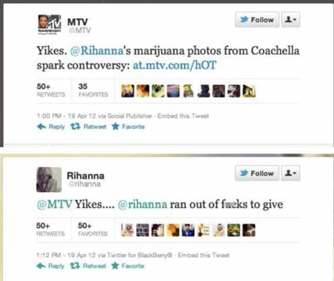 Smoke This is listed (or ranked) 2 on the list The Best Celebrity Clapback Tweets Of All Time