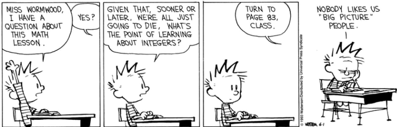 Calvin Uses Philosophy To Get  is listed (or ranked) 3 on the list The Surprisingly Dark Political Philosophy of Calvin And Hobbes That You Definitely Missed As A Kid