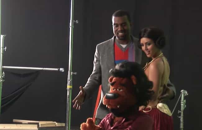 It Was Kimye's Meet Cute... is listed (or ranked) 4 on the list Inside 'Alligator Boots,' Kanye West's Failed Puppet Comedy Show