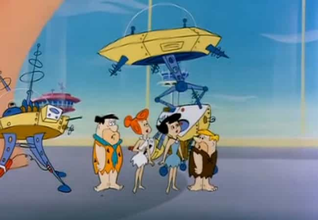 Elroy's Time Machine Act... is listed (or ranked) 2 on the list 'The Flintstones' Actually Took Place In A Post-Apocalyptic Hellscape