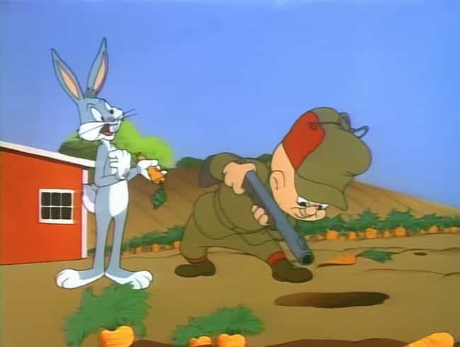 The Bugs Bunny Vs. Elmer Fudd ... is listed (or ranked) 2 on the list Looney Tunes Fan Theories That Will Burrow Their Way Into Your Brain