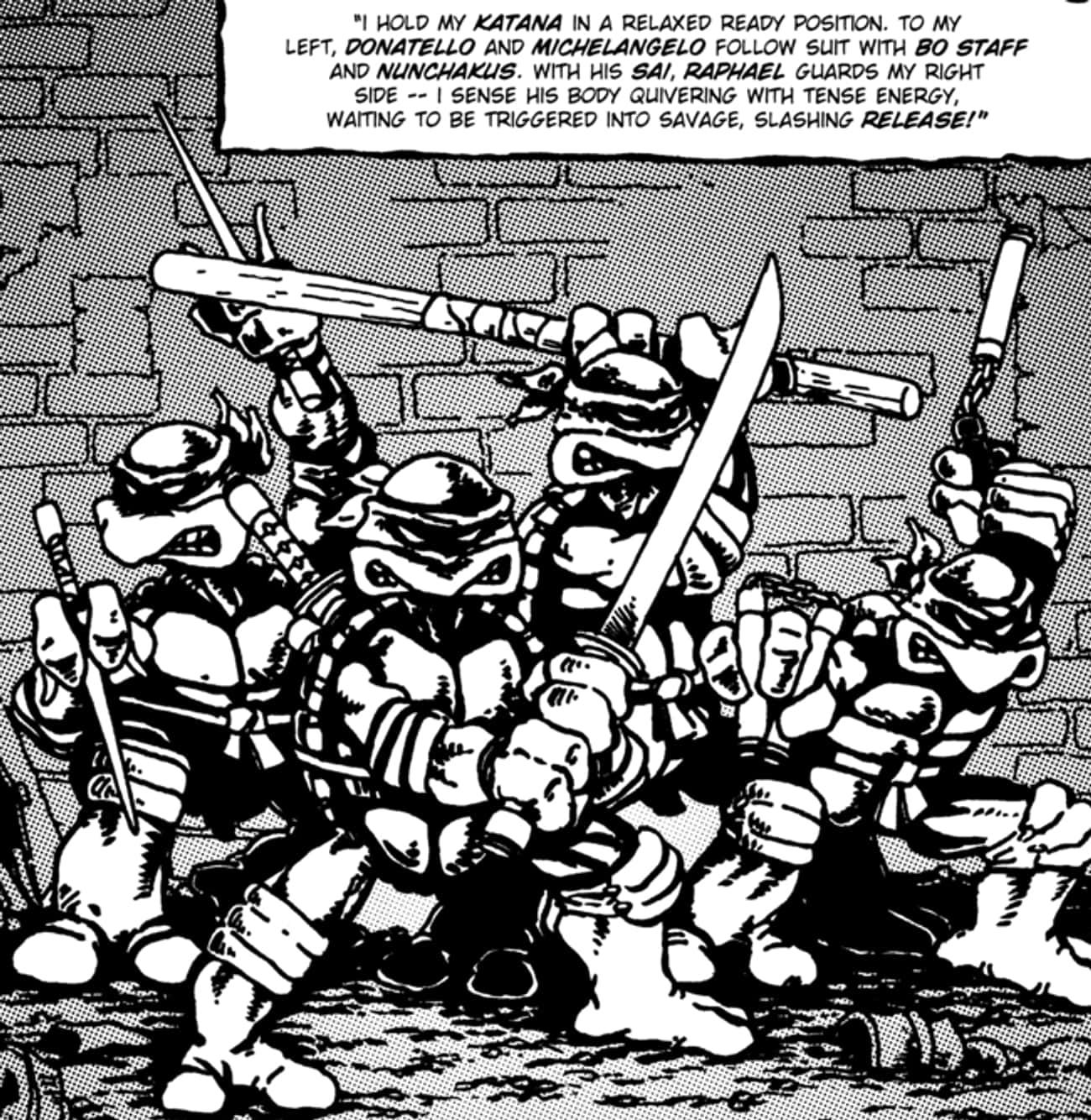 Master Splinter Raises The Tur is listed (or ranked) 1 on the list Before The Cartoons, The Teenage Mutant Ninja Turtles Used To Just Straight-Up Murder People