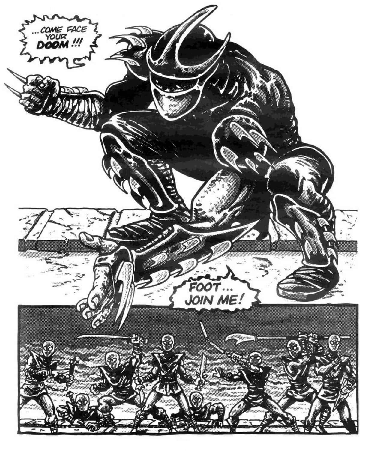 Shredder Is Originally A Drug  is listed (or ranked) 2 on the list Before The Cartoons, The Teenage Mutant Ninja Turtles Used To Just Straight-Up Murder People