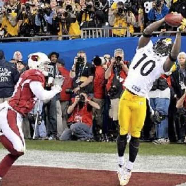 Santonio Holmes' Game-Wi... is listed (or ranked) 4 on the list The Greatest Moments in Super Bowl History