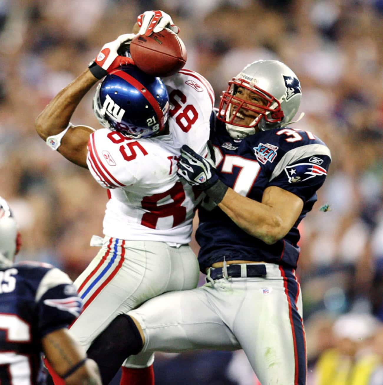David Tyree's Helmet Catch is listed (or ranked) 1 on the list The Greatest Moments in Super Bowl History