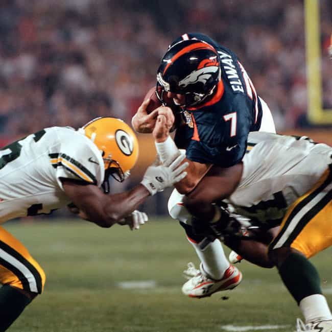 John Elway Helicopters I... is listed (or ranked) 4 on the list The Greatest Moments in Super Bowl History