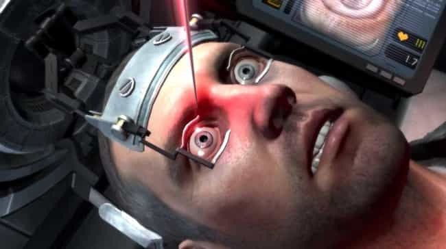 The Eye-Needle Sequence In ... is listed (or ranked) 2 on the list The Goriest, Most Brutal Moments In Video Games You Cannot Unsee