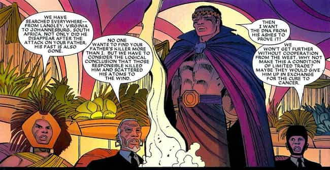 Wakanda Is Hoarding A Cure For... is listed (or ranked) 2 on the list Super Intense Black Panther Moments In The Comics You Didn't See In The Movie