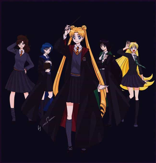 Harry Potter is listed (or ranked) 3 on the list 21 Amazing Sailor Moon Fan Art Crossovers