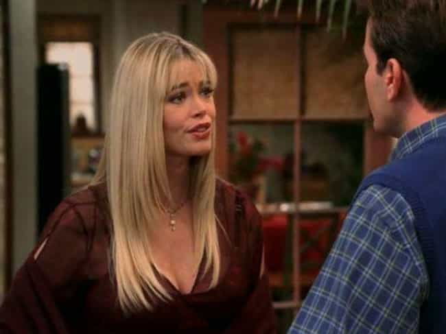 Denise Richards Divorced Sheen... is listed (or ranked) 1 on the list The Behind The Scenes Drama Of Two And A Half Men Is Even Weirder Than You Imagined