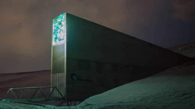The Svalbard Global Seed Vault is listed (or ranked) 3 on the list Secret Lairs More Awesome Than The Batcave