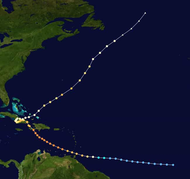 Hurricane Flora (1963) is listed (or ranked) 4 on the list The Deadliest, Most Destructive Hurricanes Ever