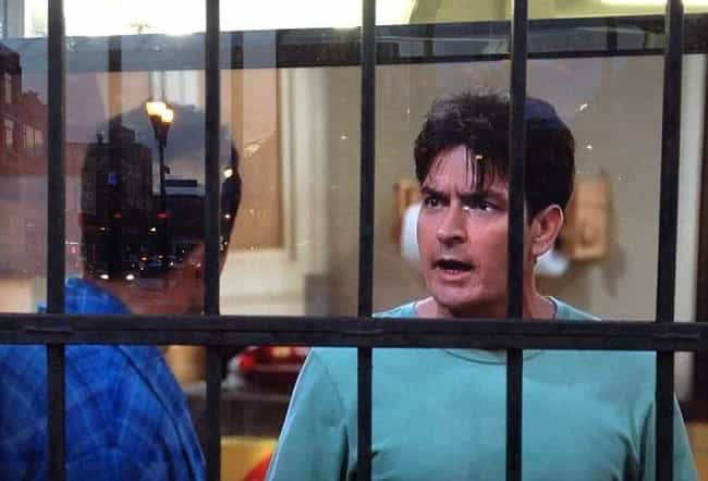 Charlie Sheen Was Arrested On ... is listed (or ranked) 2 on the list The Behind The Scenes Drama Of Two And A Half Men Is Even Weirder Than You Imagined