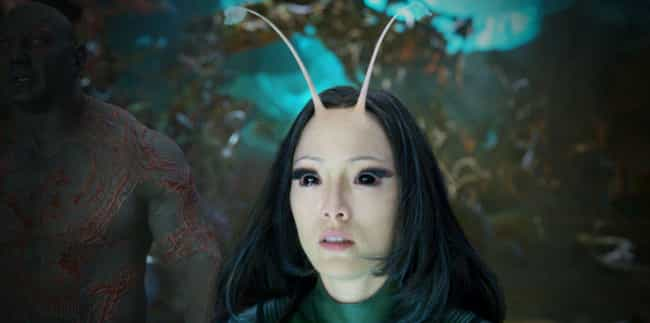 The Mantis In 'Guardians... is listed (or ranked) 4 on the list Here's What Hardcore Comic Book Fans Don't Like About The MCU