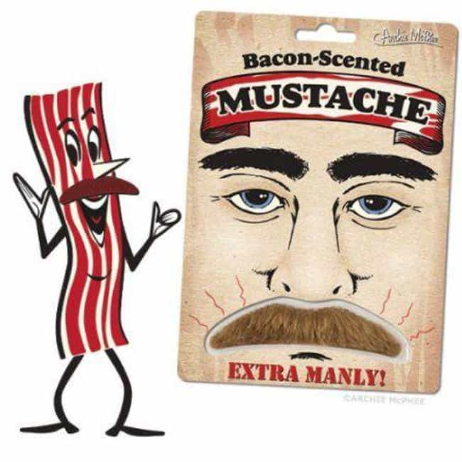 Bacon-Scented Mustache ... is listed (or ranked) 1 on the list The Craziest Stuff You Can Buy At Walmart