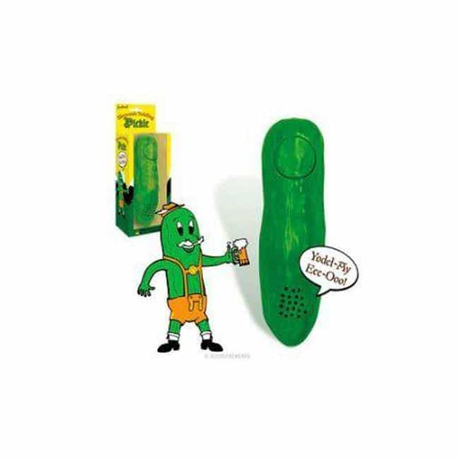 Yodelling Pickle is listed (or ranked) 4 on the list The Craziest Stuff You Can Buy At Walmart