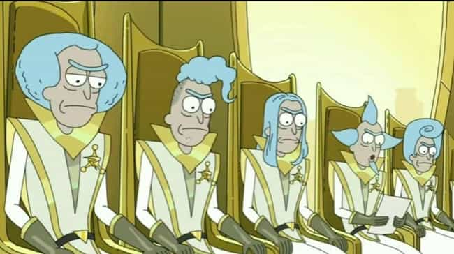 The Council Of Ricks Are Likel... is listed (or ranked) 5 on the list Obscure Pop Culture References From Rick And Morty, Explained