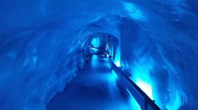 The Interior Of Titlis Glacier... is listed (or ranked) 4 on the list These Photos From Inside A Glacier Will Take Your Breath Away