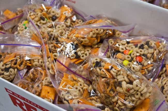 Make Kid-Friendly Trail Mix is listed (or ranked) 4 on the list Lunchbox Hacks That Make Packing School Lunches Legitimately Fun