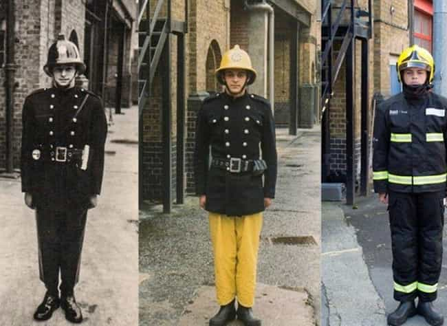 A Family Who Fights Fire... is listed (or ranked) 3 on the list 26 Times People Recreated Their Grandparents' Photos