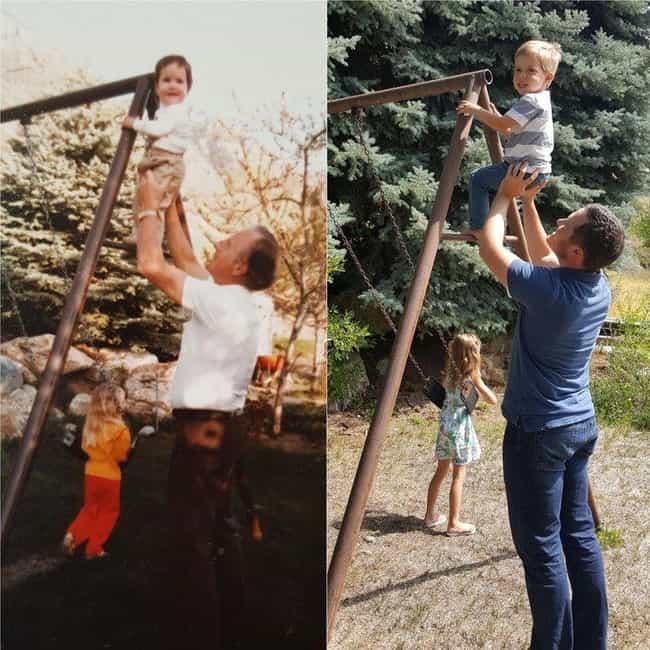 Like Grandfather, Like Grandso... is listed (or ranked) 3 on the list 26 Times People Recreated Their Grandparents' Photos