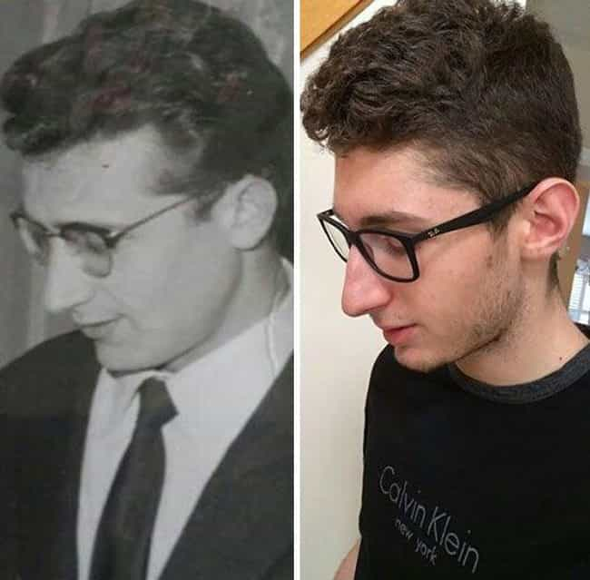 These Two Look Uncannily Simil... is listed (or ranked) 1 on the list 26 Times People Recreated Their Grandparents' Photos
