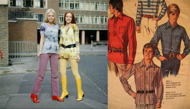 1970s: Bell-Bottoms, Den... is listed (or ranked) 3 on the list Here's What High Schoolers Wore Each Decade Throughout The 20th Century