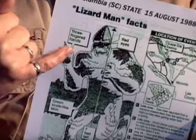 The Lizard Man Is Supposedly S... is listed (or ranked) 1 on the list The Lizard Man Is Elusive, But His Claw Marks Suggest He's Haunting Scape Ore Swamp