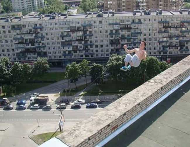 Pavel Kashin Performs A Stunt ... is listed (or ranked) 1 on the list Haunting Photos Taken Moments Before Tragedy Struck