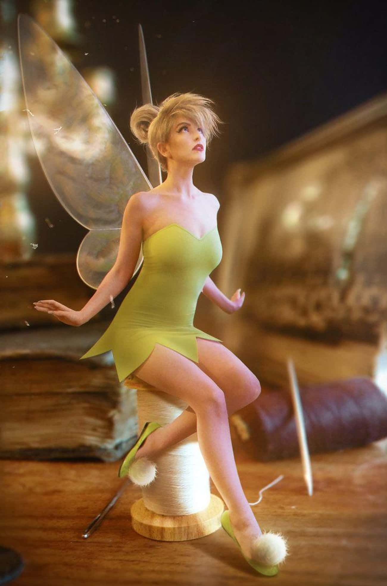 A Tiny Tinkerbell is listed (or ranked) 1 on the list Disney Princess Cosplay Is Magic For Your Eyeballs