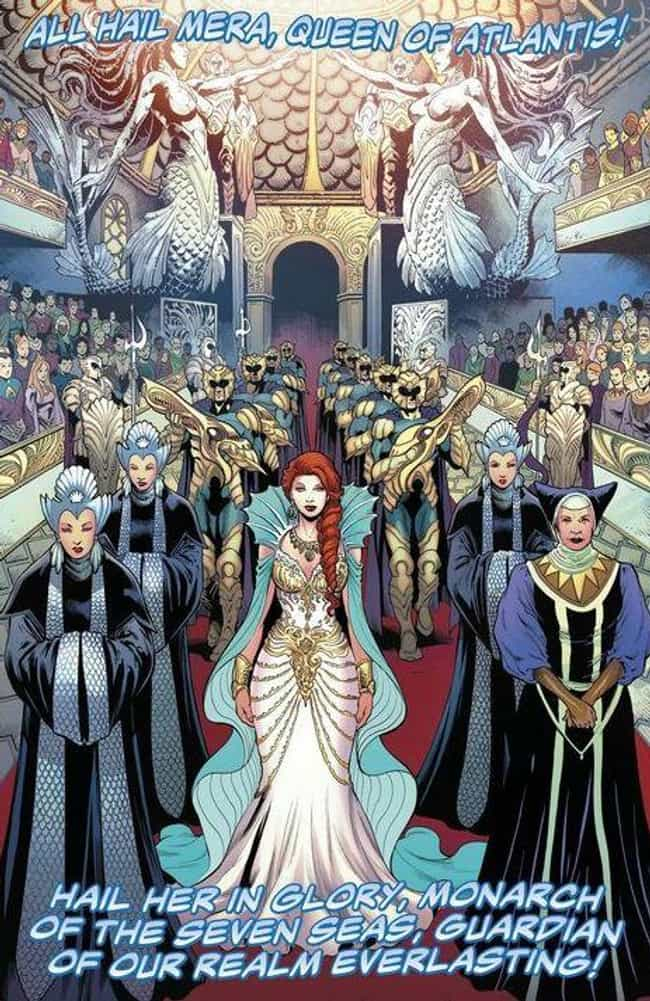 Mera Is The Queen Of Atlantis is listed (or ranked) 1 on the list Everything You Need To Know About Mera, Queen Of Atlantis And Aquaman's Wife