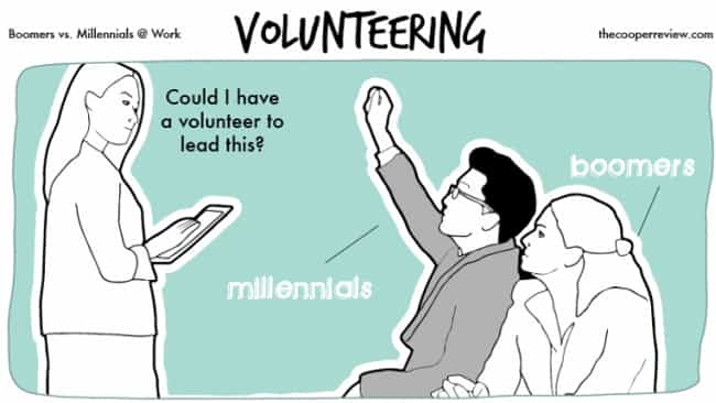 Millennials Just Love To... is listed (or ranked) 4 on the list Someone Illustrated The Difference Between Millennials And Baby Boomers In 10 Comics