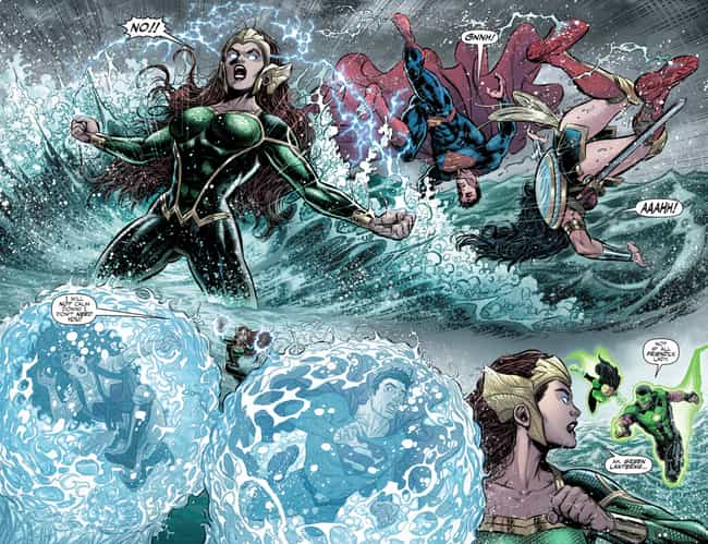 Mera Has The Power Of Aquakine... is listed (or ranked) 3 on the list Everything You Need To Know About Mera, Queen Of Atlantis And Aquaman's Wife