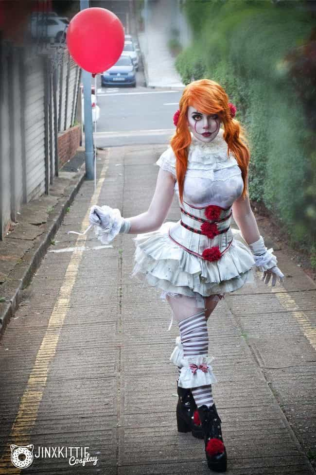 A Cute Yet Creepy Clown is listed (or ranked) 1 on the list These Sexy Pennywise Cosplays Will Both Intrigue And Confuse You