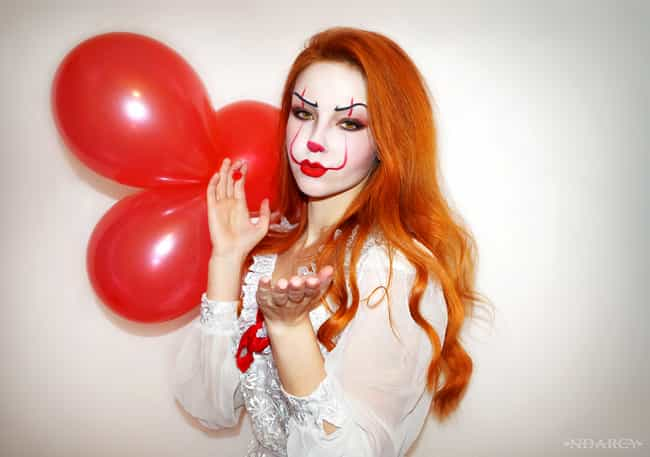 Pennywise Is Always Down To Pa... is listed (or ranked) 3 on the list These Sexy Pennywise Cosplays Will Both Intrigue And Confuse You