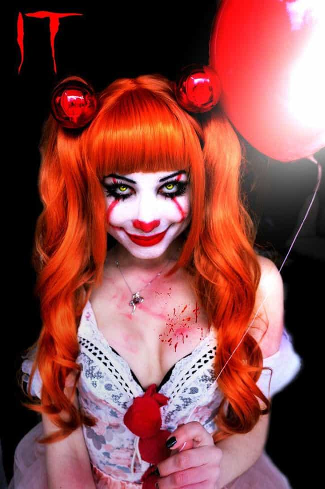 A Captivating Killer Clown is listed (or ranked) 4 on the list These Sexy Pennywise Cosplays Will Both Intrigue And Confuse You