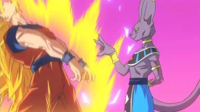 Beerus Humbles Super Sai... is listed (or ranked) 4 on the list 16 Times Anime Villains Destroyed The Good Guy In A Fight
