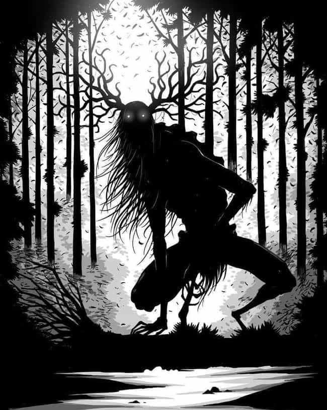 Wendigo In The Woods is listed (or ranked) 2 on the list Disturbing Cryptozoological Fan Art