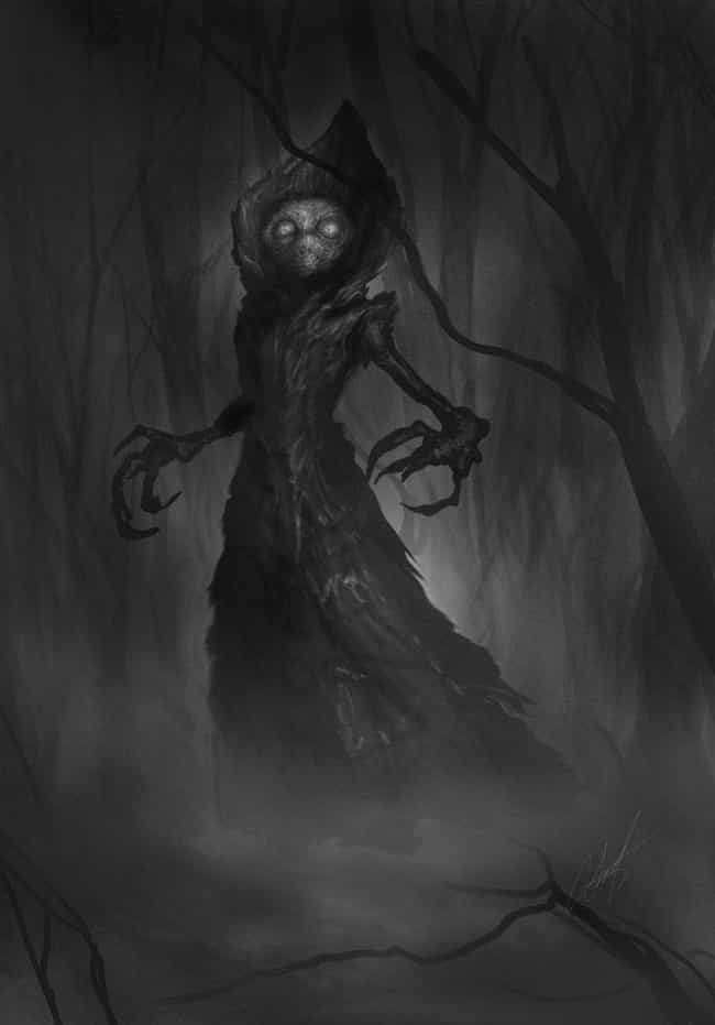 The Flatwoods Monster is listed (or ranked) 3 on the list Disturbing Cryptozoological Fan Art