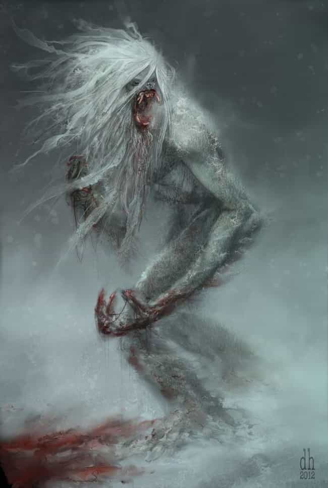 Yeti is listed (or ranked) 1 on the list Disturbing Cryptozoological Fan Art