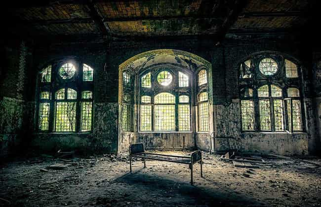 A Bed, One Of Many Pieces Of F... is listed (or ranked) 2 on the list A Terrifying Abandoned Hospital In Germany Is Still Allegedly Haunted By The Ghosts Of Nazi Soldiers