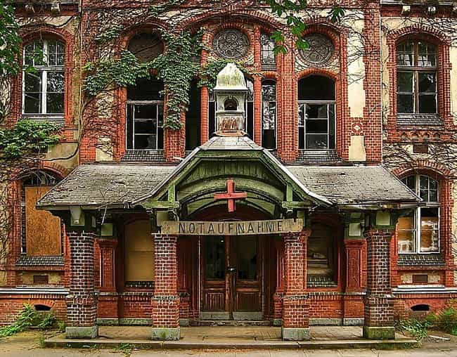 The Facade Of A Once-Grand Fac... is listed (or ranked) 1 on the list A Terrifying Abandoned Hospital In Germany Is Still Allegedly Haunted By The Ghosts Of Nazi Soldiers