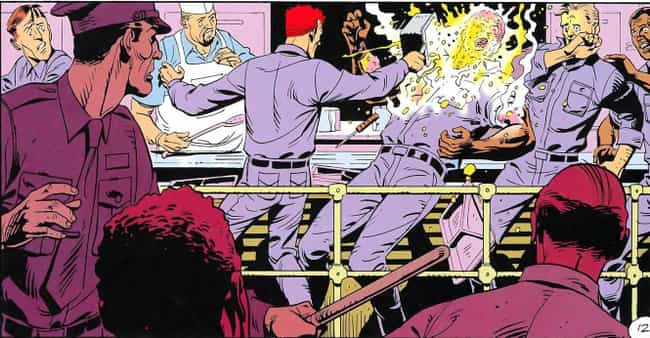 Rorschach Throws Scalding Hot ... is listed (or ranked) 4 on the list Most Violent Moments In The 'Watchmen' Universe