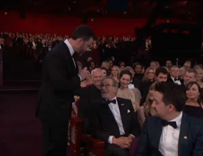 Jimmy Kimmel Asking Steven Spi... is listed (or ranked) 2 on the list The Most Painfully Awkward Moments From The 2018 Oscars