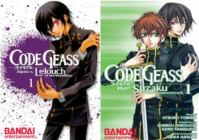 Code Geass: Suzaku of the Coun... is listed (or ranked) 4 on the list 15 Manga Series Based on Anime You Might Not Know About