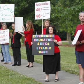 Teacher Wage Increases is listed (or ranked) 7 on the list The Most Important Education Issues Today