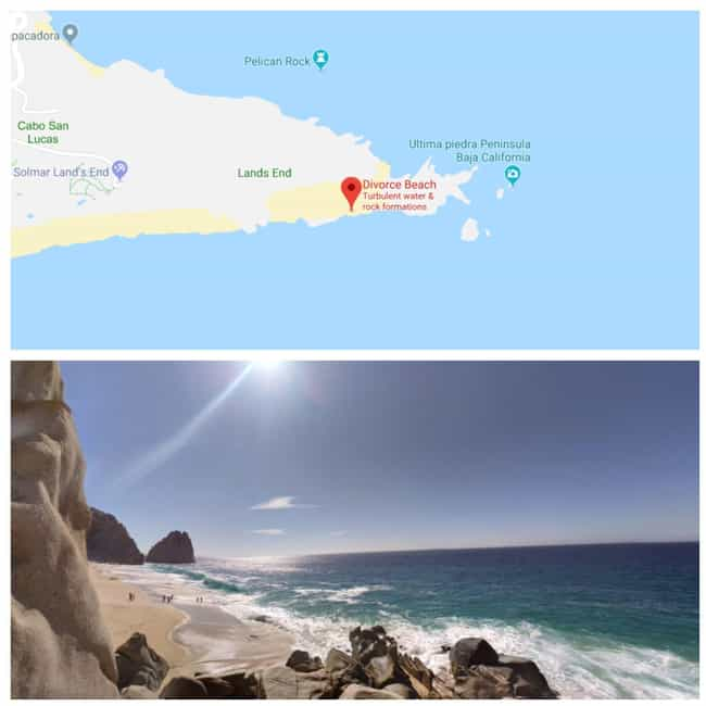 Divorce Beach, Cabo San ... is listed (or ranked) 3 on the list Take A Look At These Hilariously Depressing Locations On Google Maps